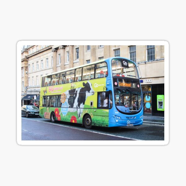 """Big Days Out' Cow Bus - Go North East Double Decker Sticker"