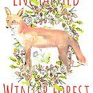 Woodland Fox Wreath by SallyJTaylor