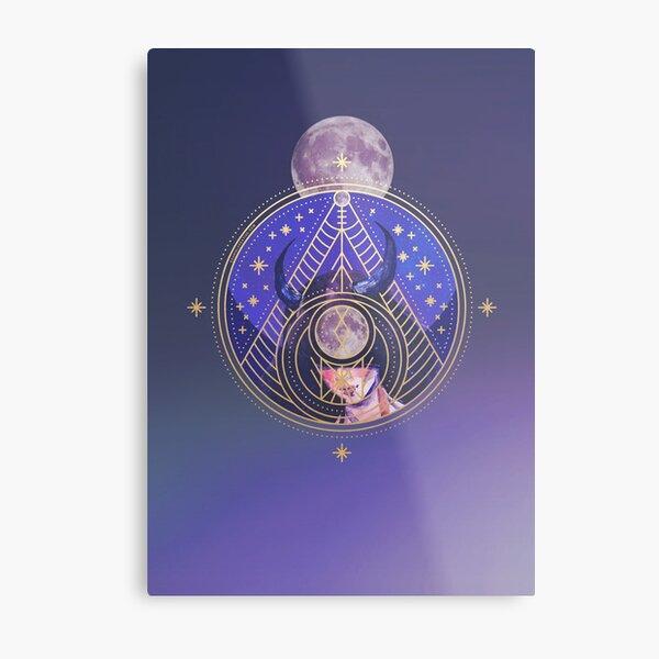 Zodiac Taurus Goddess Metal Print