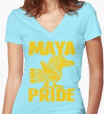 MAYA PRIDE Women's Fitted V-Neck T-Shirt