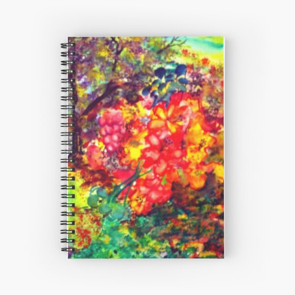 """Blooming"" Patch Spiral Notebook"
