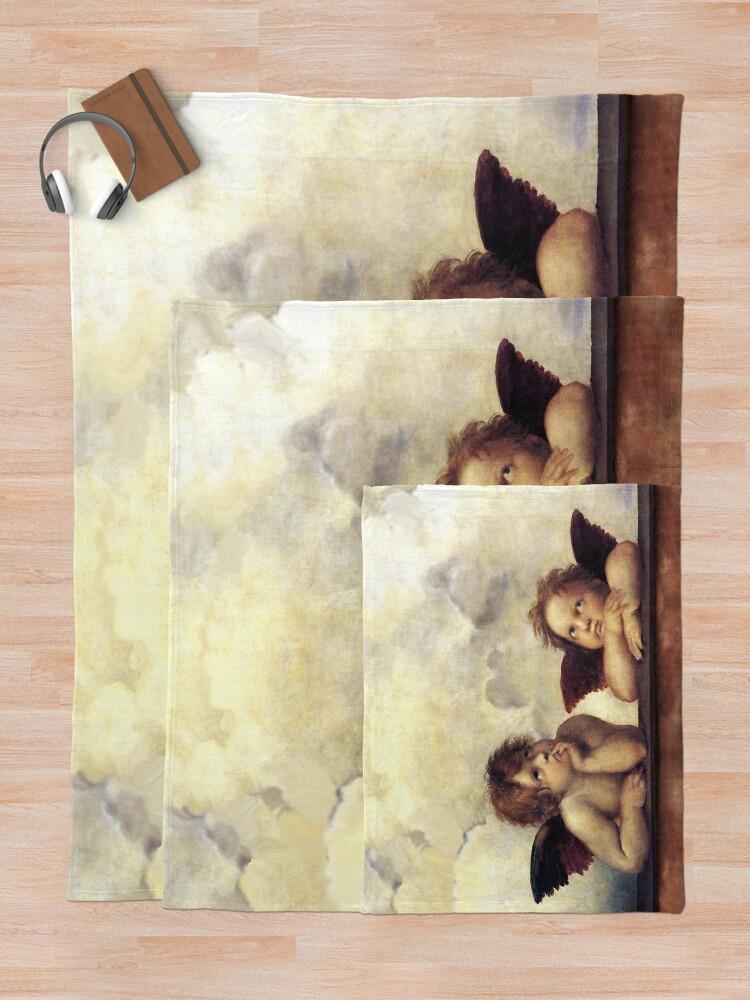 Alternate view of RENAISSANCE ANGELS Winged Cherubs Throw Blanket