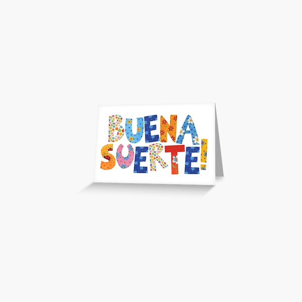 Buntes Buena Suerte! Grußkarte