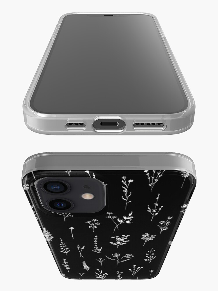 Alternate view of Black wildflowers iPhone Case & Cover