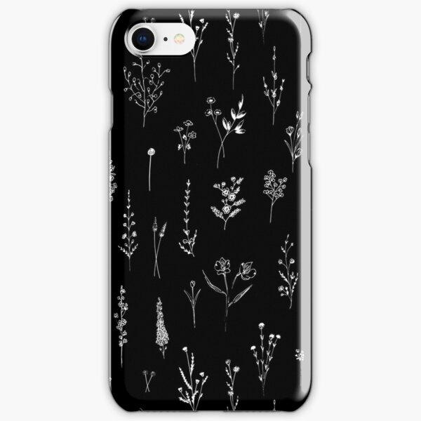 Black wildflowers iPhone Snap Case