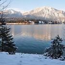 Lake and Snow by Daidalos