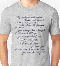 Stolz und Vorurteil, Darcy (schwarz) Zitat Slim Fit T-Shirt