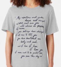 Pride and Prejudice, Darcy (black) Quote  Slim Fit T-Shirt
