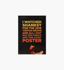 Shanksy Twitch Drop Poster Art Board
