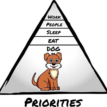 Dog Is No 1 Priority by claudiasartwork