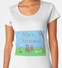 Teddy Bear Christmas card Women's Premium T-Shirt