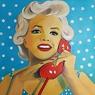 "« Marylin Monroe Art painting ""Allo John?"" » par Marie-Armelle Borel"