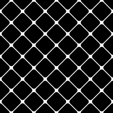 Black and White Cross Mesh Pattern by koovox