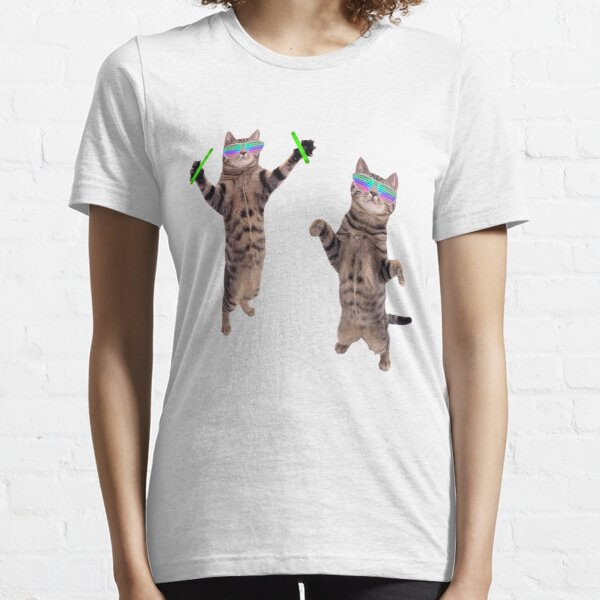 Cats At A Rave Essential T-Shirt