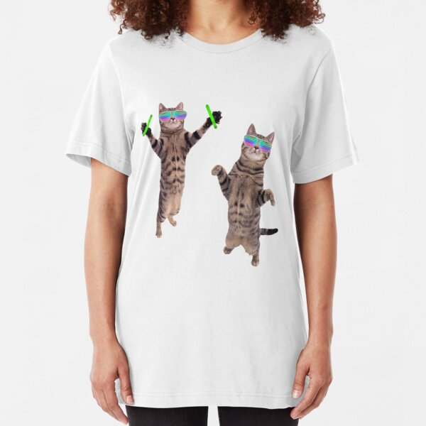 Cats At A Rave Slim Fit T-Shirt