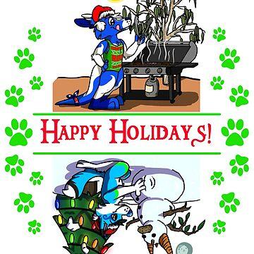 Happy Holidays w Pocari & Stormi! by Adezu