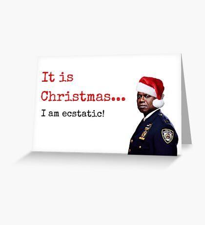 Tarjeta de Navidad de Brooklyn Nueve Nueve Capitán Holt, Citas, Regalos, Regalos, Comedia TV Regalos, Tarjetas de felicitación Meme, Pegatinas Tarjeta de felicitación