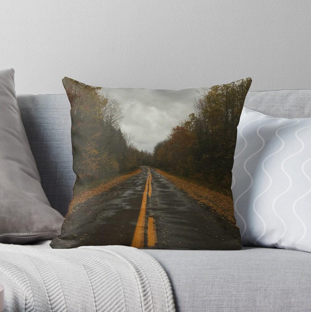 Backroads Throw Pillow