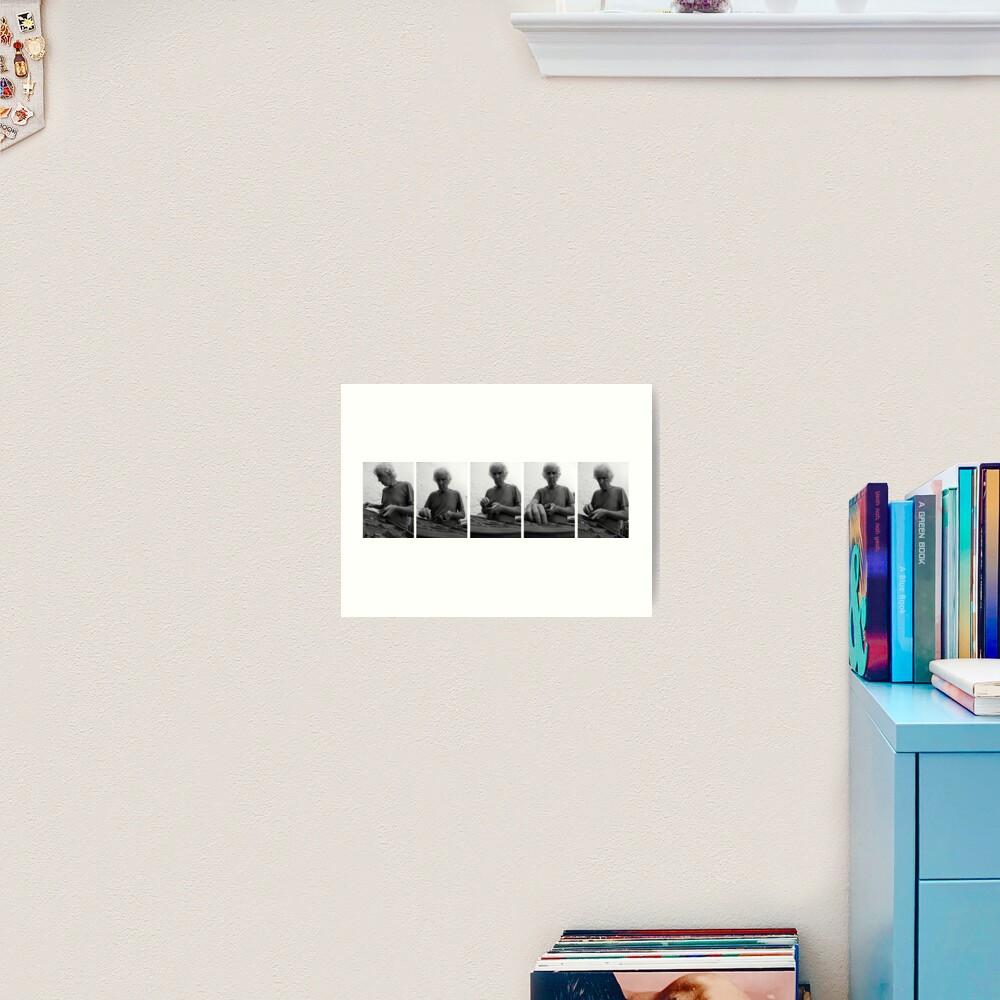 Tómas Typesets  Art Print