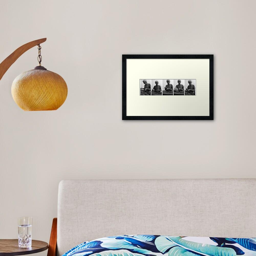 Tómas Typesets  Framed Art Print