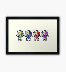 Four Swords A Link Between Worlds Wall Art Style Framed Print