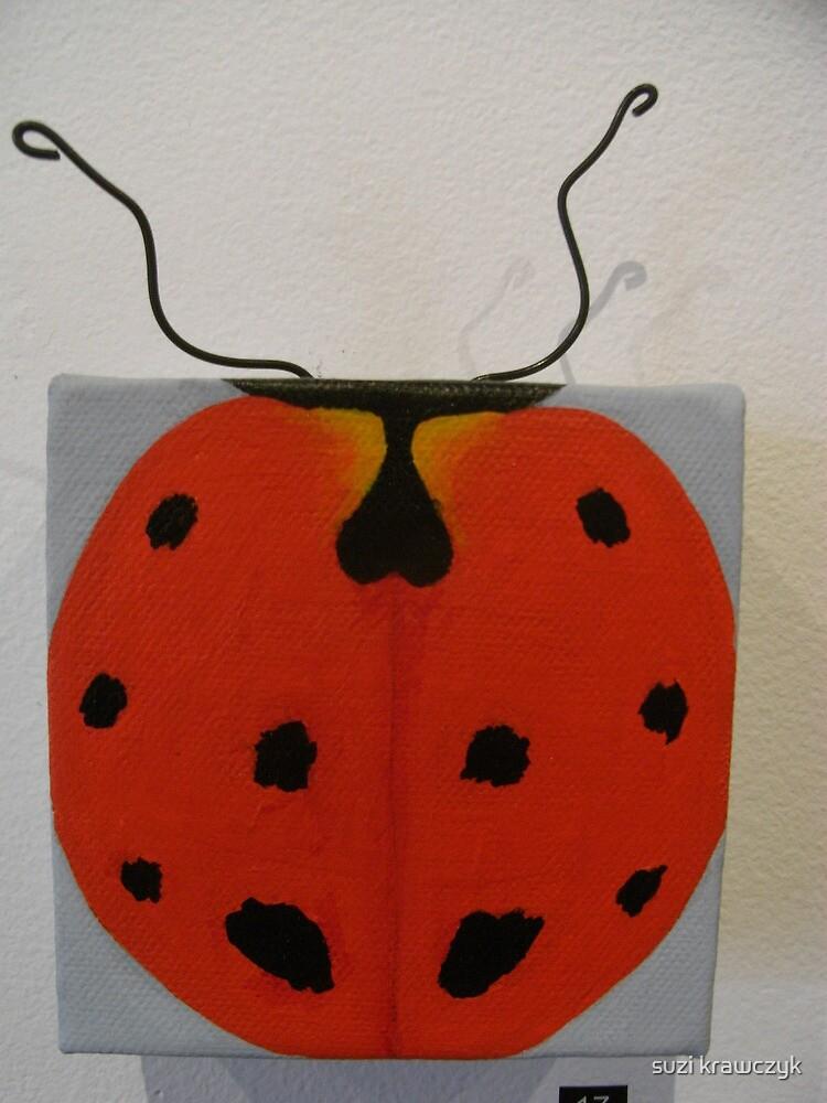 euro bug - coccinella undecimpunctata by suzi krawczyk