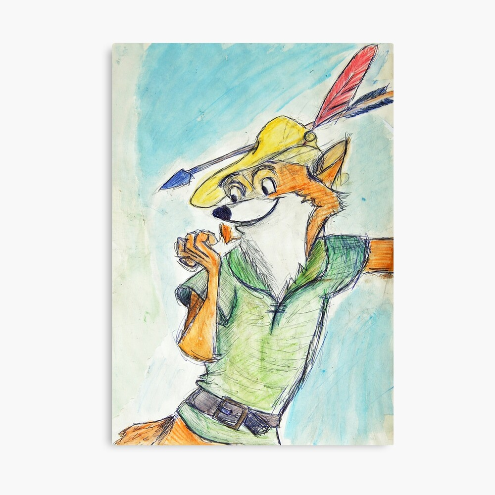 Comic Robin Hood Leinwanddruck