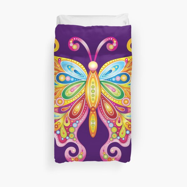 Psychedelic Butterfly - Art by Thaneeya McArdle Duvet Cover