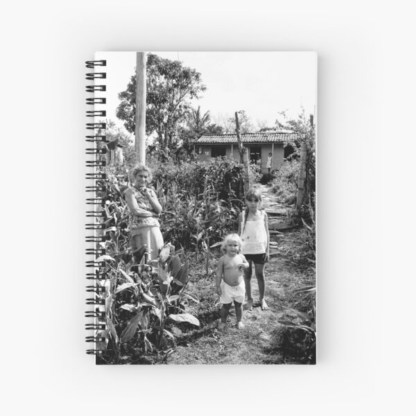 On a bike in Cuba - Family at the Roadside Spiral Notebook