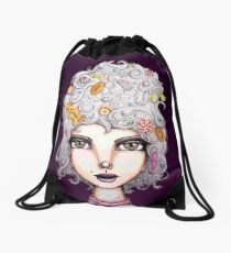 Gingerbread Witch Drawstring Bag