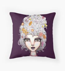 Gingerbread Witch Throw Pillow
