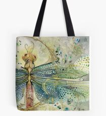 Green Jewel Dragonfly Tote Bag