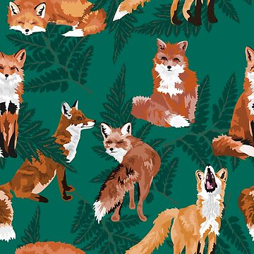 Foxes and Ferns by VieiraGirl