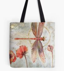 Red Jewel Damselfly Tote Bag