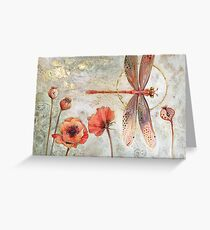 Red Jewel Damselfly Greeting Card