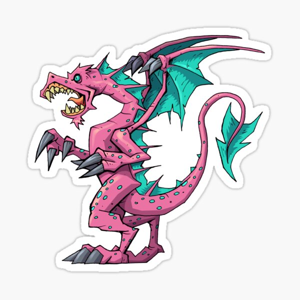 Pink Dragon Sticker