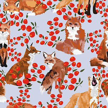 Foxes and Berries by VieiraGirl