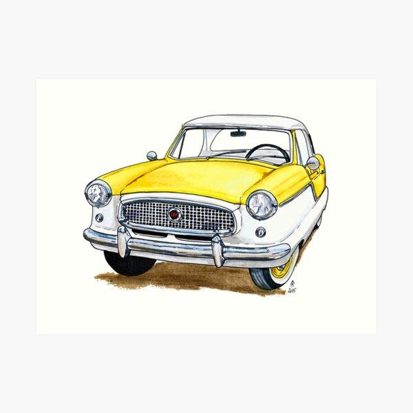 Nash Metropolitan - Yellow Art Print