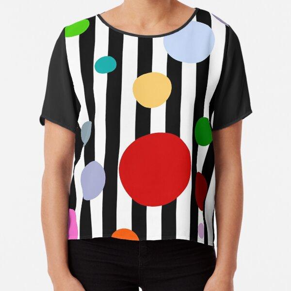Geometrics- Stripes and Polka Dots Chiffon Top