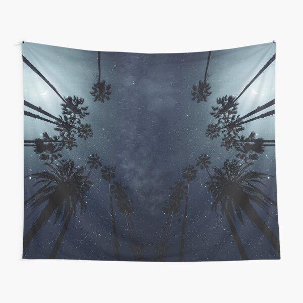 Palm Trees, Night Sky, Stars, Moon Tapestry