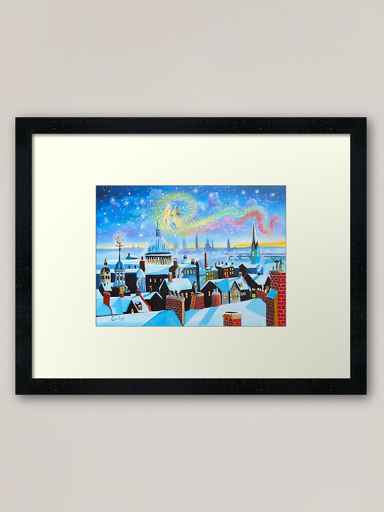 Alternate view of Scrooge a Christmas Carol ghost of Christmas past Framed Art Print
