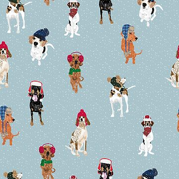Winter Hat Coonhounds by VieiraGirl