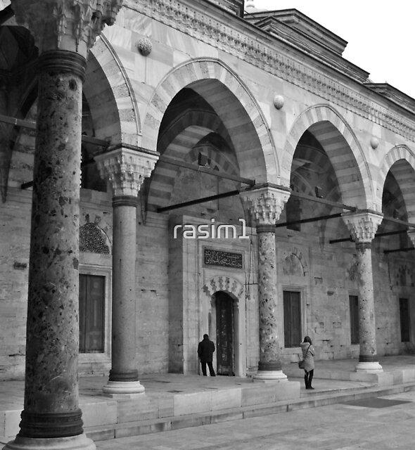 A garden of Mosque by rasim1