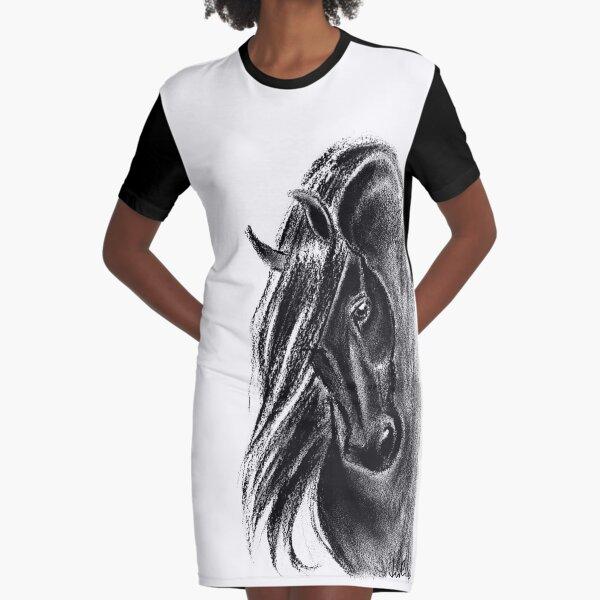 Black Graphic T-Shirt Dress