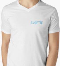 Camiseta para hombre de cuello en v swiftie 1989 azul