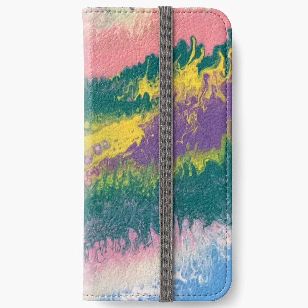 "Abstract Painting-""South Beach Ocean Waves"" iPhone Wallet"
