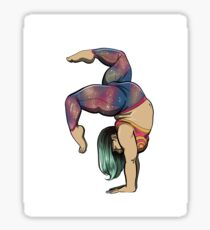Fat Gymnastics Babe Sticker