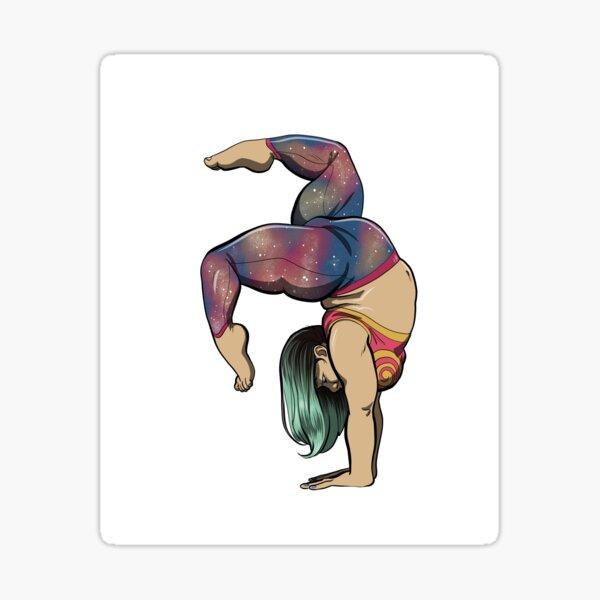 Fat Gymnastics Babe Sticker