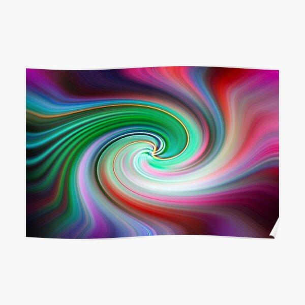 Colour Cocaine Twirl Poster