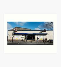 Leyton Tube Station Art Print